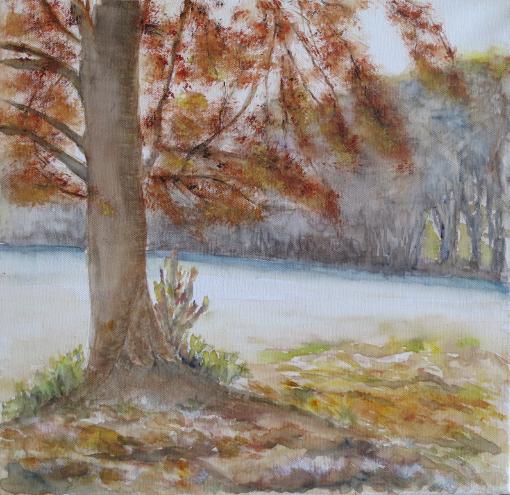 arbre en parure d'automne