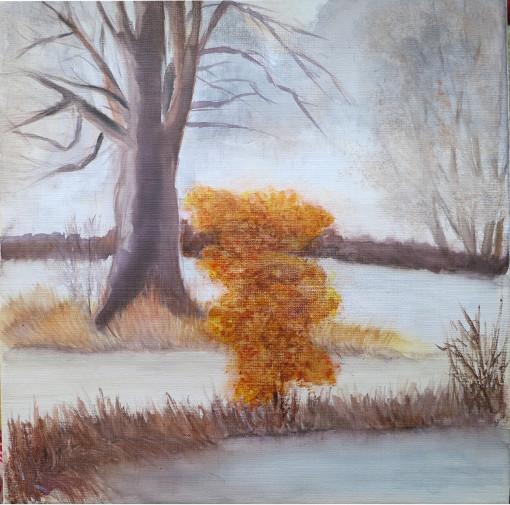 scène d'hiver un arbre