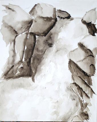 cascade lavis noir et blanc