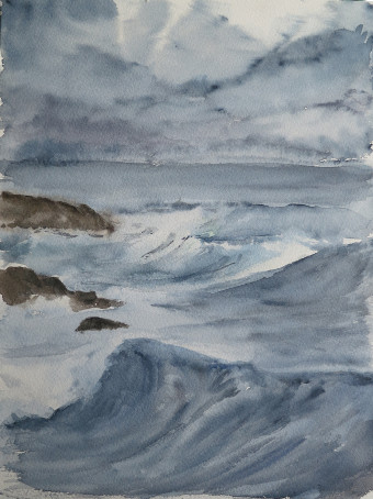 tempête sur mer